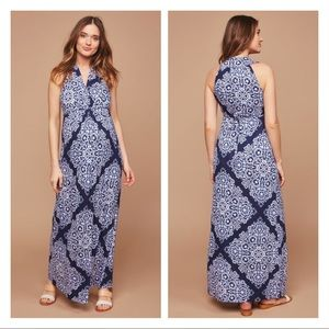 Motherhood Maternity Sleeveless Printed Maxi Dress